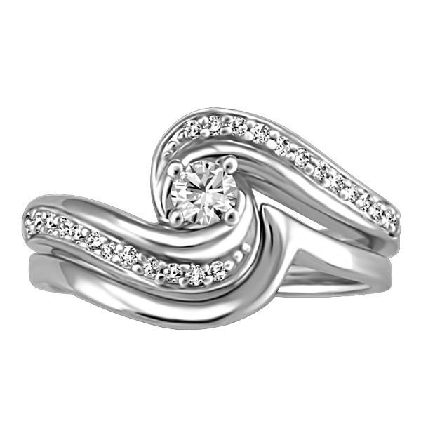 White Gold Fire of the North Canadian Diamond Engagement Ring