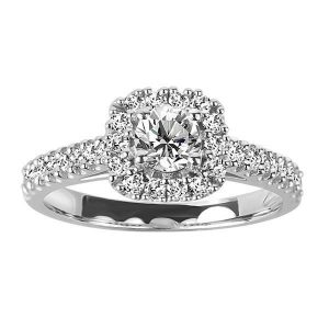 Fire of the North Engagement Ring with .62 Carat TW of Diamonds in 14kt White Gold
