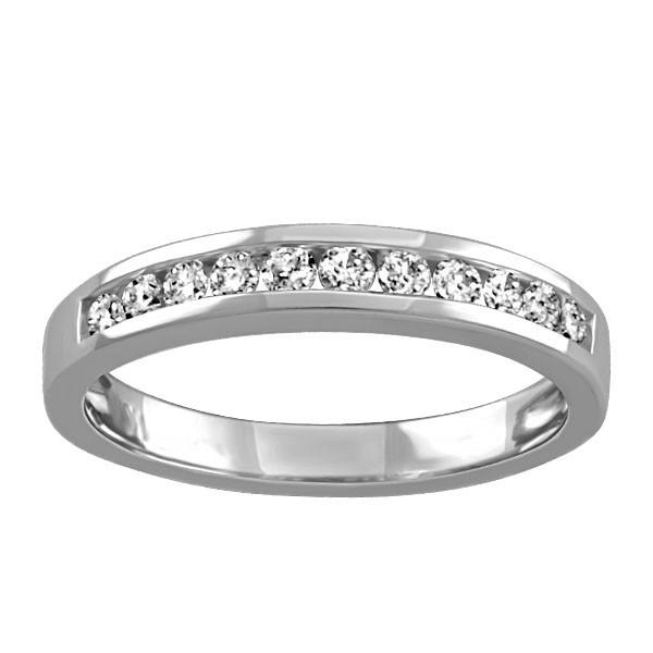 White Gold Fire of the North Canadian Diamond Ring