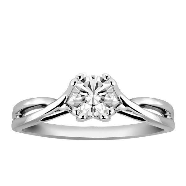 White Gold Fire of the North Engagement Ring