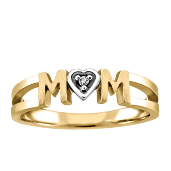 Yellow Gold Diamond Mom Ring