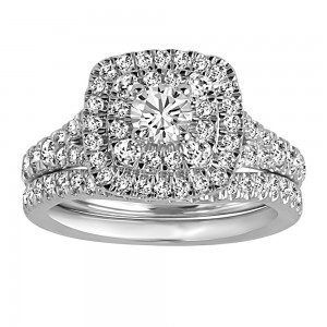 Engagement RIng with 1.25 Carat TW of Diamonds In 14kt White Gold