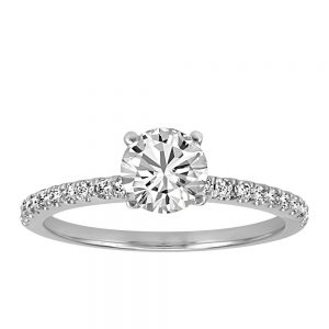 Colourless Collection Solitaire Engagement Ring With .80 Carat TW Of Diamonds In 18kt White Gold