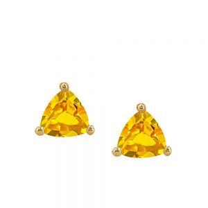 Resilience Sunshine Earrings with .08 Carat TW of Diamonds and Citrine in 10kt Yellow Gold